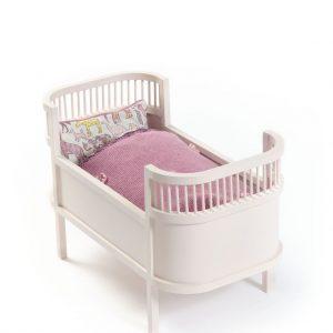 SMALLSTUFF Rosaline Doll Bed Rose