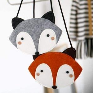 Fox Bag – Grey and Brown