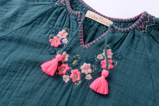 OZA Blouse - Green Blue | Louise Misha | Mini Nation