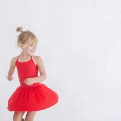 Halter Tutu Dress - Red | Little Hearts Co