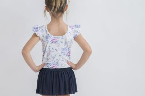 Luxe Frill Leotard - White Peony