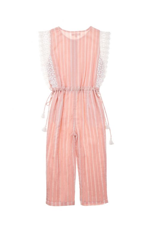 Makoa Overalls - Blush Stripes | Louise Misha