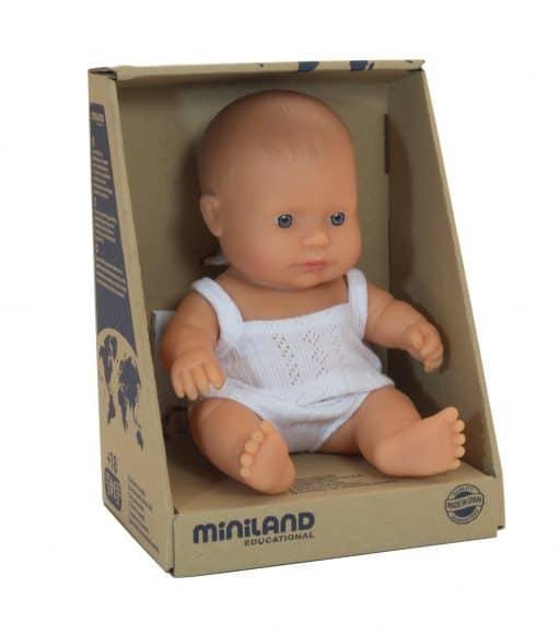 Miniland Baby Doll - Caucasian Girl 21cm