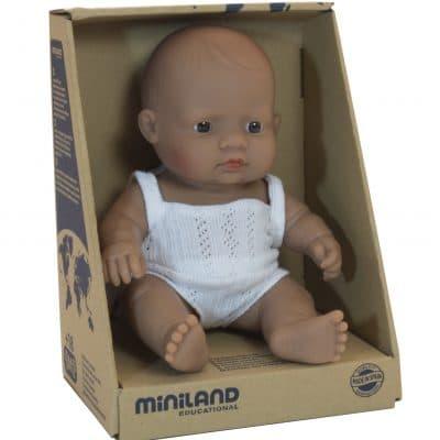 Miniland Baby Doll - Hispanic Girl 21cm