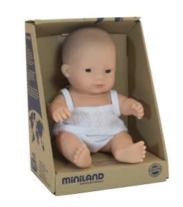 Miniland Baby Doll - Asian Boy 21cm