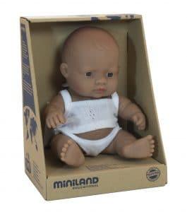 Miniland Baby Doll - Hispanic Boy 21cm