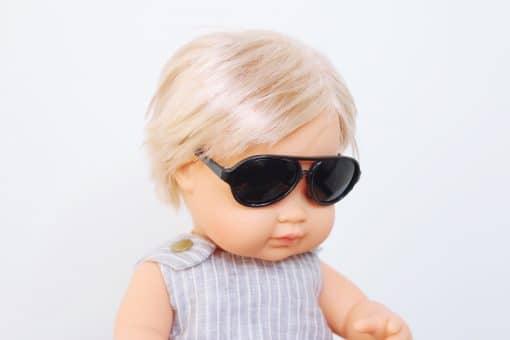 Doll Sunglasses - Aviator - Black | Mini Nation