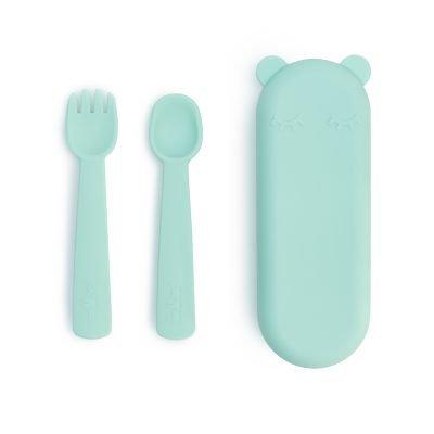 Feedie Fork & Spoon Set - Mint -Mini Nation